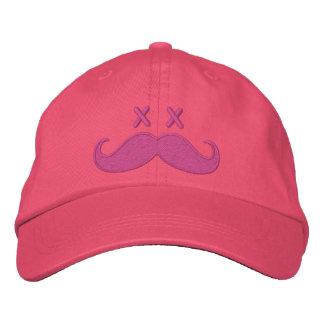 Totes Schnurrbart ROSA Bestickte Kappe