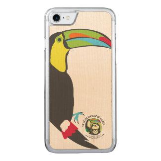 Toucan hölzerner Telefon-Kasten Carved iPhone 8/7 Hülle