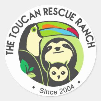 Toucan Rettungs-Ranch-Aufkleber Runder Aufkleber