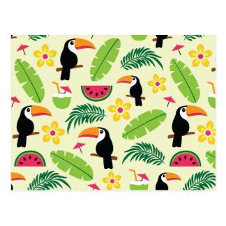 Toucan tropisches Sommer-Muster Postkarte