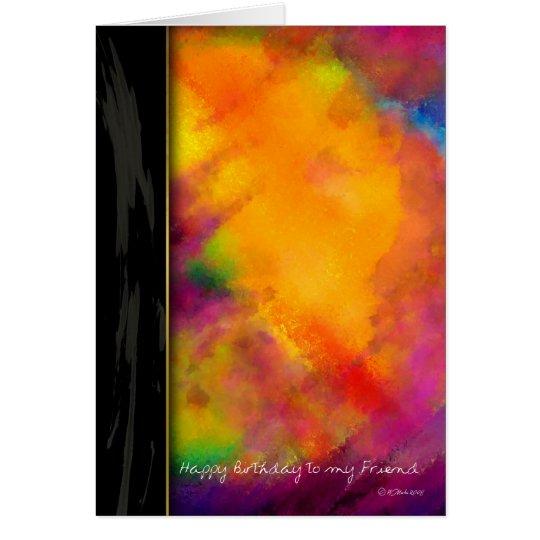 Touch der lila gemalten Geburtstags-Karte für Grußkarte