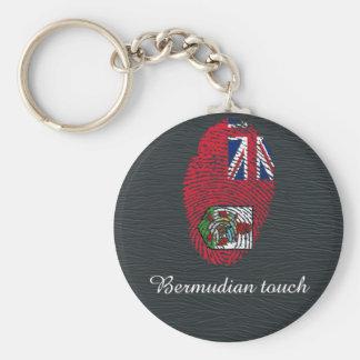 Touchfingerabdruckflagge von den Bermudas Schlüsselanhänger