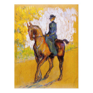 Toulouse-Lautrec Frau auf Pferdepostkarte Postkarte
