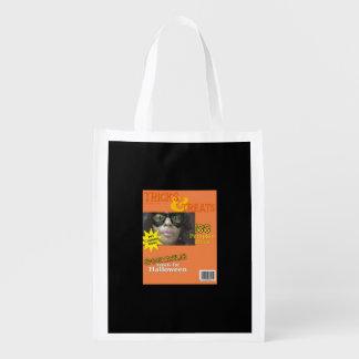 Tour de Halloween ou Treet, cadeau, sac de Sac D'épicerie