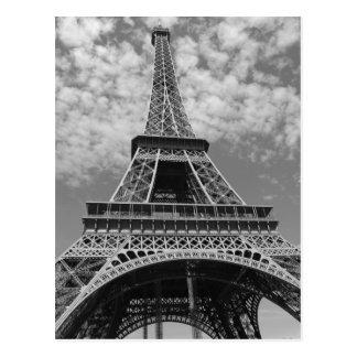 Tour Eiffel en noir et blanc Carte Postale