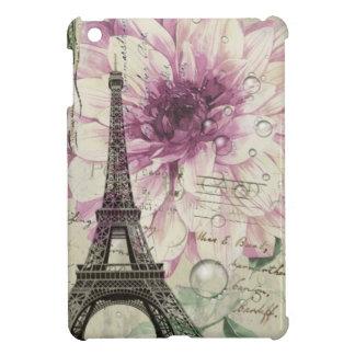 Tour Eiffel vintage élégant de Paris floral Coque iPad Mini