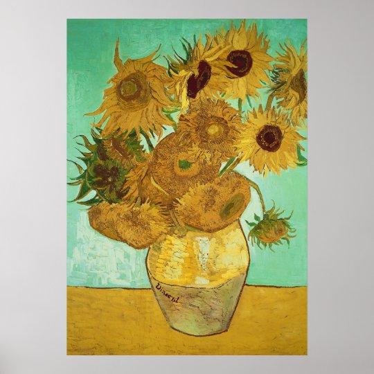 Tournesols de Vincent van Gogh  , 1888 Poster