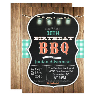 TOUT ÂGE - invitation de craie de barbecue de BBQ