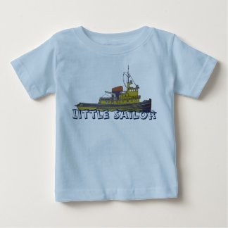 Towboatschleppergraphik zeichnen Abdeckung Baby T-shirt