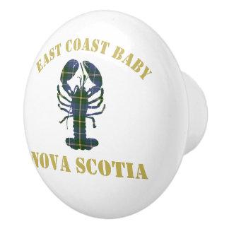 Traction de tiroir de homard de la Nouvelle-Écosse Bouton De Porte En Céramique