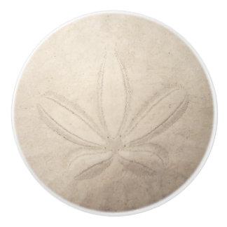 Traction en céramique du dollar de sable bouton de porte en céramique