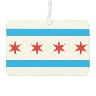 Traditionelle Chicago-Flagge Autolufterfrischer