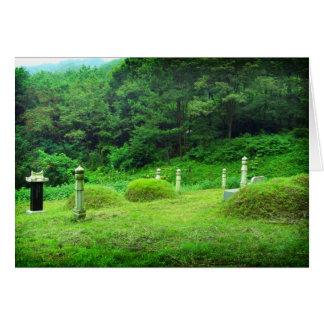 Traditionelle Gebirgsgräber in Südkorea Karte