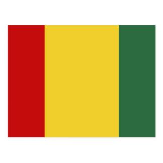 Traditionelle Guinea-Flagge Postkarte
