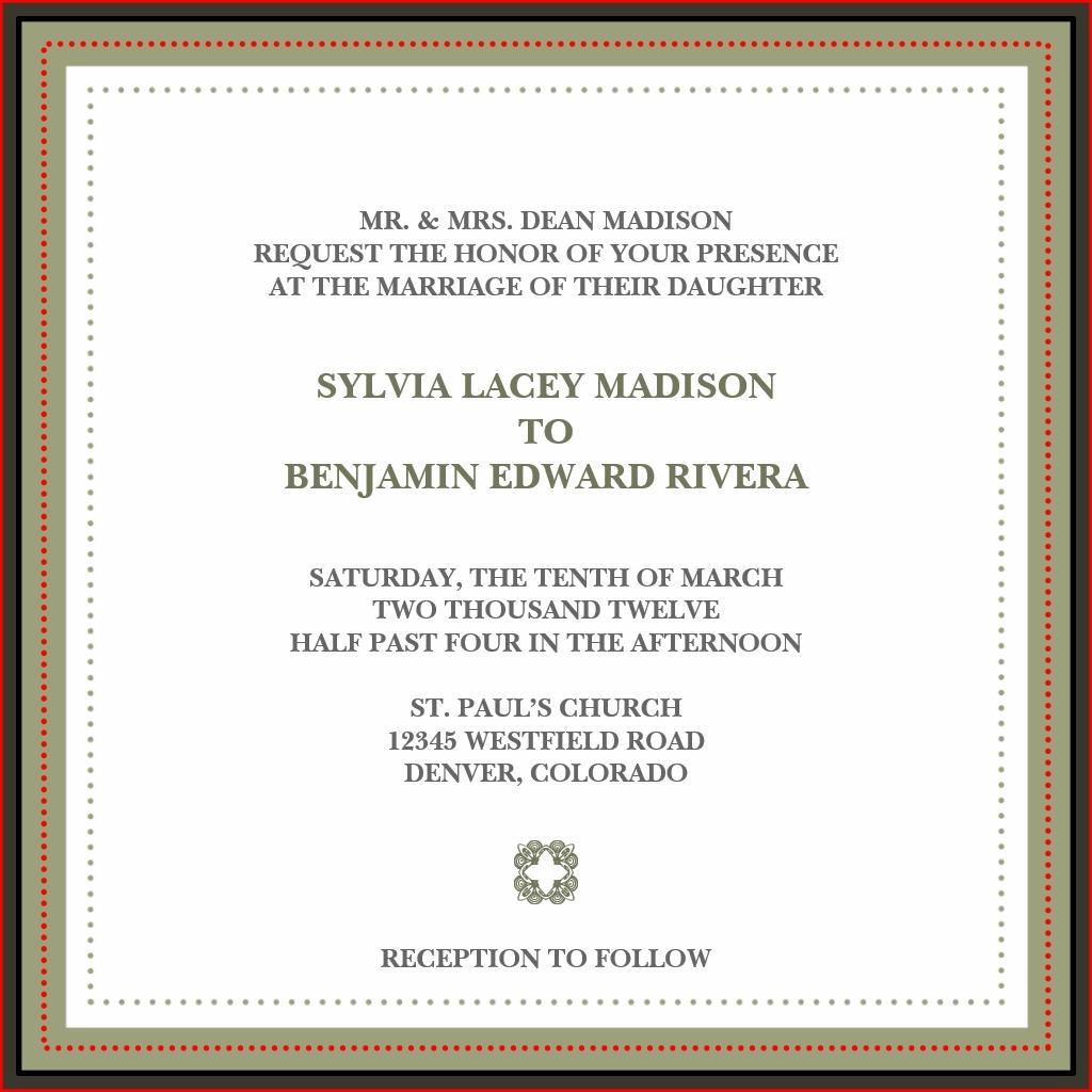 Traditionelle Hochzeitseinladungen