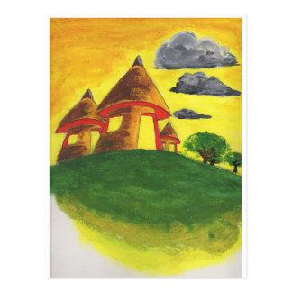 Traditionelle Hütten Postkarte