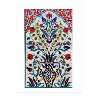 Traditionelle islamische Blumenmusterfliesen Postkarte