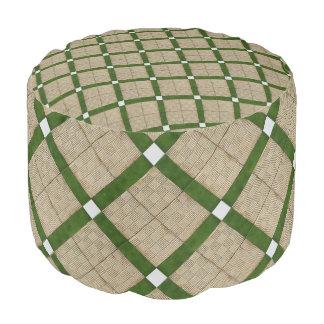 Traditionelle Keramik deckt Muster mit Ziegeln Hocker