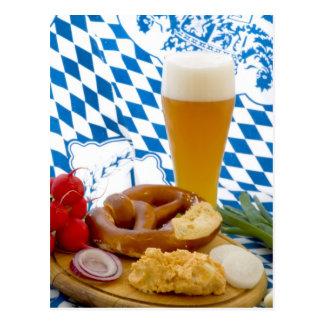 Traditioneller bayerischer Imbiss Postkarte