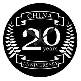 Traditioneller Hochzeitsjahrestag der China 20 Große Wanduhr