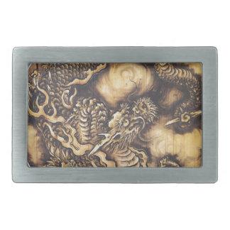 Traditioneller japanischer orientalischer Drache - Rechteckige Gürtelschnallen