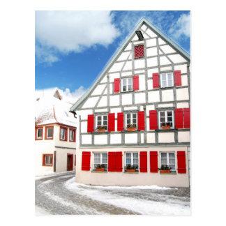 Traditionelles bayerisches Haus Postkarten