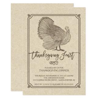 Traditionelles die Türkei-Erntedank-Fest 12,7 X 17,8 Cm Einladungskarte