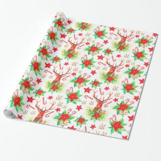 Traditionelles Vintages Weihnachtsmuster Geschenkpapier