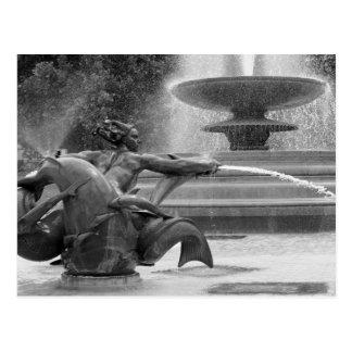 Trafalgar-Platz-Brunnen, London Postkarte