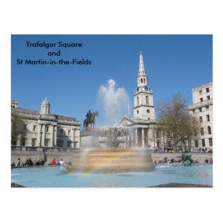 Trafalgar-Platz und St. Martin-in-d-Felder Postkarte