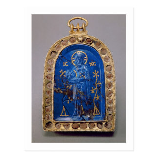 Tragbare Ikone, vermutlich mittelalterlich Postkarte