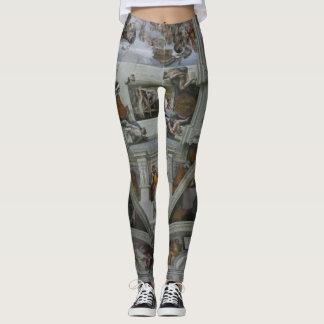 Tragbare Kunst!  Sistine Kapellen-Decke Leggings
