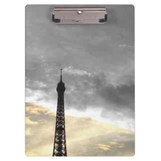 Tragen Sie Block Umdrehung Eiffel, aber und Geld Klemmbrett