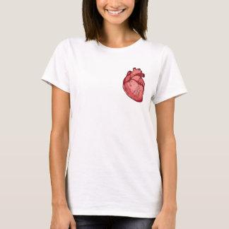Tragen Sie Ihr Herz auf Ihrem T-Stück T-Shirt