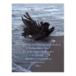 Tragen Sie meine Belastungs-Gebets-Postkarte Postkarte
