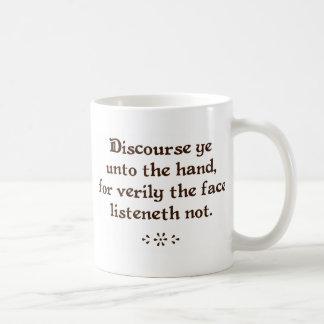 Tragen Sie YE an die Handkaffee-/-tee-Tassen vor Kaffeetasse