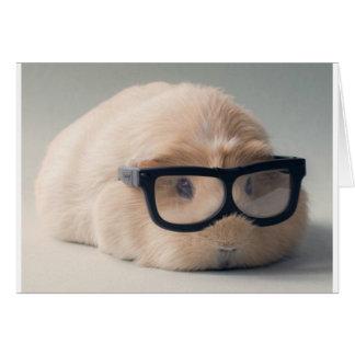 Tragende Gläser des niedlichsten Meerschweinchens Karte