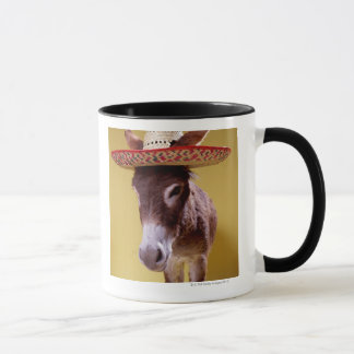 Tragender Strohhut des Esels (Equus hemonius) Tasse