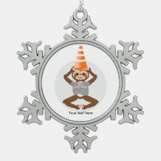 Trägheit ist ein Einhorn-Straßen-Kegel Schneeflocken Zinn-Ornament