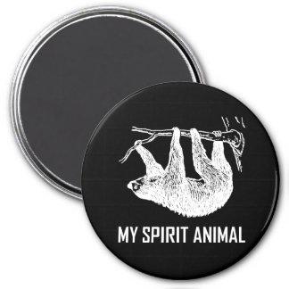 Trägheit mein Geist-Tier lustig Runder Magnet 7,6 Cm