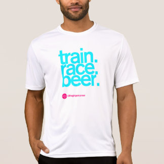 TRAIN.RACE.BEER. Angepasster laufender T - Shirt