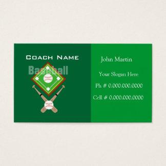 Trainer-Baseball Visitenkarte