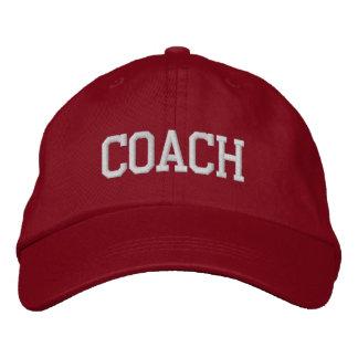 Trainer gestickte Baseball-Mütze/Kappe - Rot Bestickte Baseballkappe