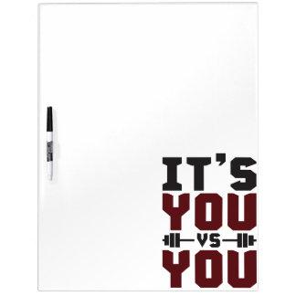 Trainings-Inspiration - es ist Sie gegen Sie - Memoboard