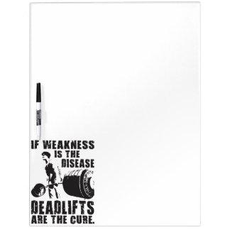 Trainings-Motivation - Deadlift ist die Heilung Whiteboards