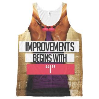 Trainings-Motivation - Verbesserungen fangen mit Komplett Bedrucktes Tanktop