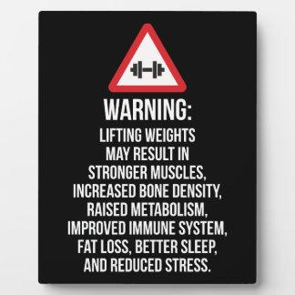 Trainings-Motivation - WARNEND - Nutzen des Fotoplatte