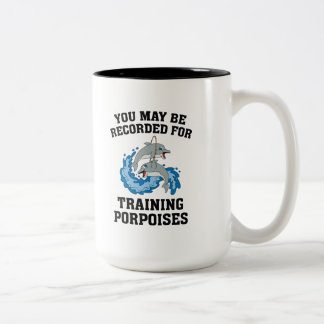 Trainings-Tümmler Zweifarbige Tasse