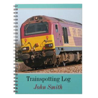 Trainspotting Dieselklotz der Klasse 67 Spiral Notizblock