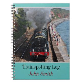 Trainspotting Klotz Vintagen Dampf Loco Spiral Notizblock